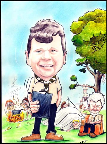 Cartoon Portrait Caricature scouts