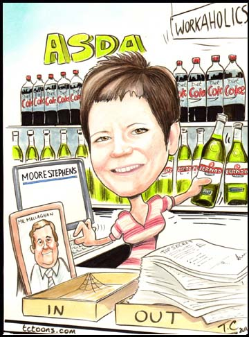 Cartoon Portrait Caricature secretary