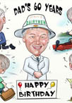 60th birthday caricature cartoon portrait