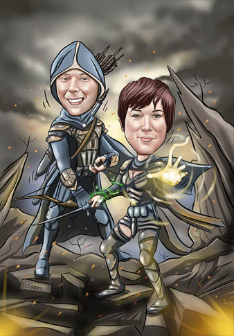 Elder Scrolls caricature cartoon