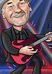 guitarist caricature