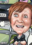 golf ladies caricature