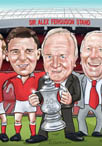 80th birthday man united caricature cartoon portrait