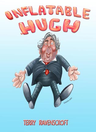 Inflatable Hugh by Terry Ravenscroft book cover illustration