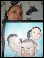 cartoon portrait gift photo